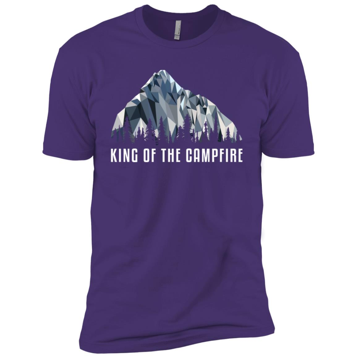 Funny Hiking King Of The Low Poly Gift Men Short Sleeve T-Shirt