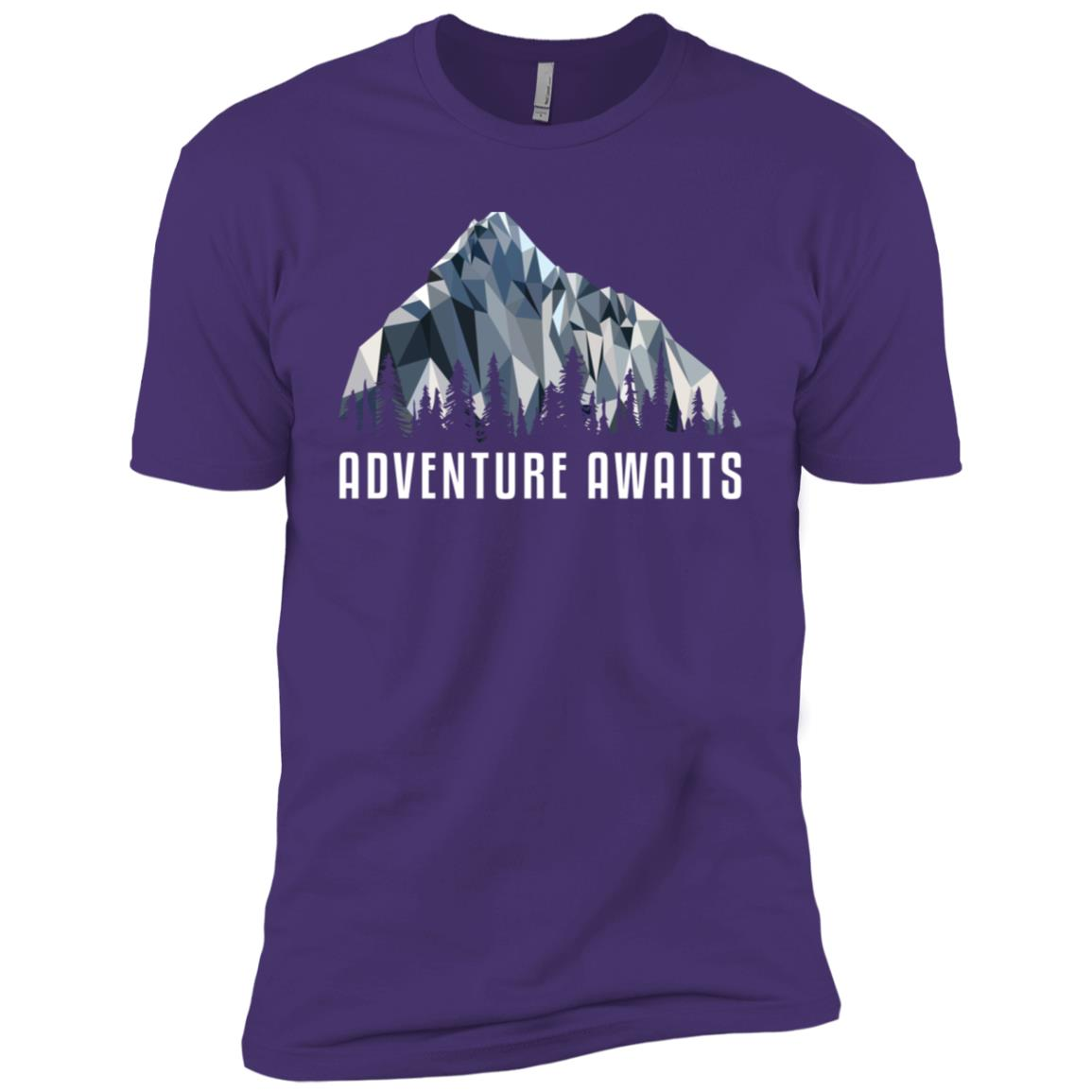 Funny Hiking Adventure Awaits Low Poly Gift Men Short Sleeve T-Shirt