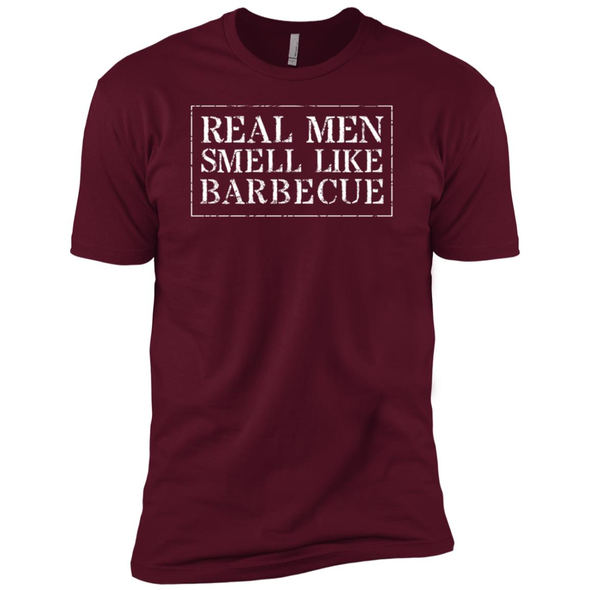 Funny Bbq Real Men Smell Like Barbecue Men Short Sleeve T-Shirt