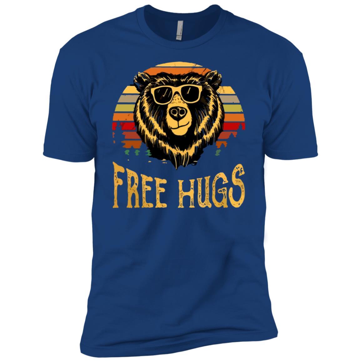 free hugs bear vintage go camping Men Short Sleeve T-Shirt