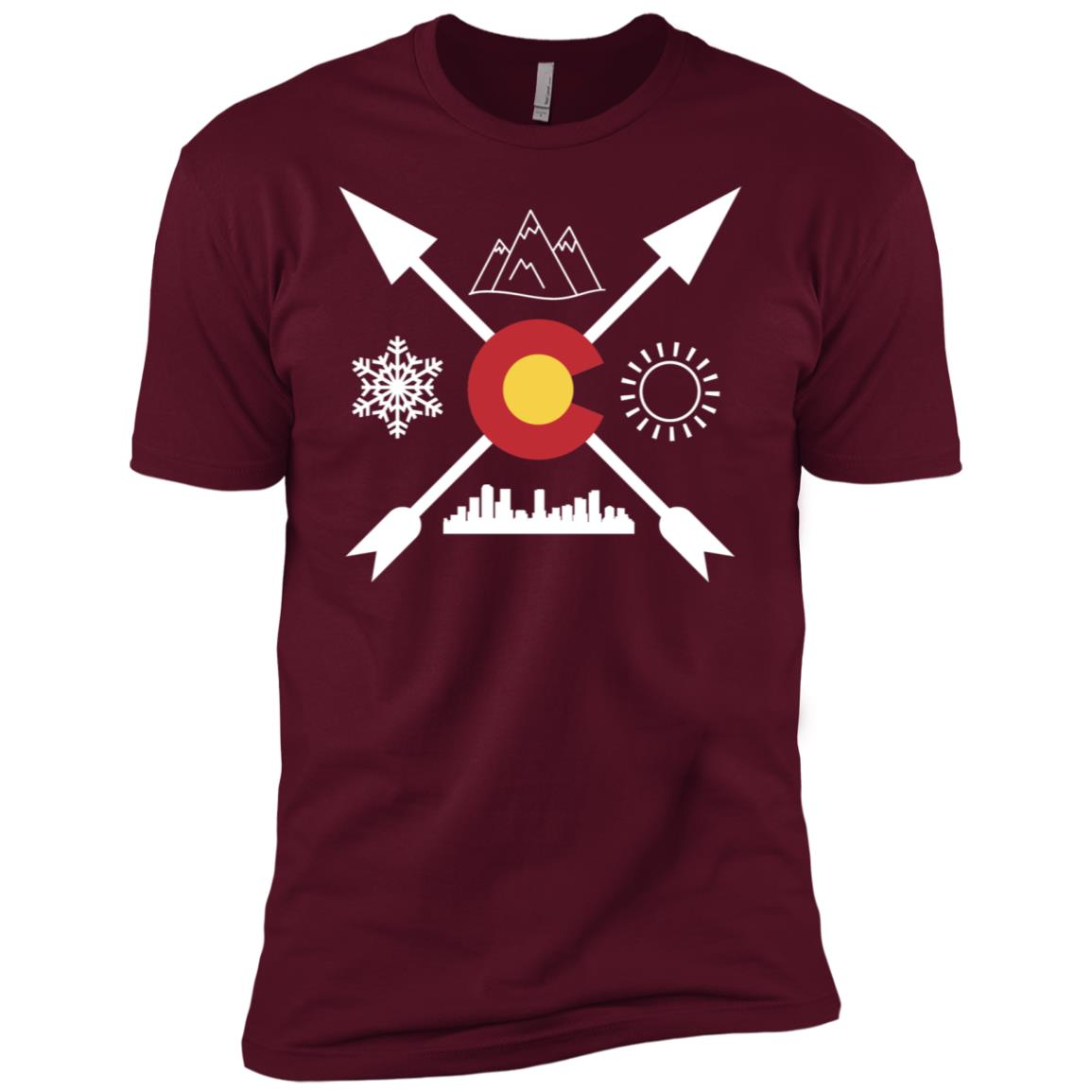 Downtown Denver, Colorado Directional Men Short Sleeve T-Shirt