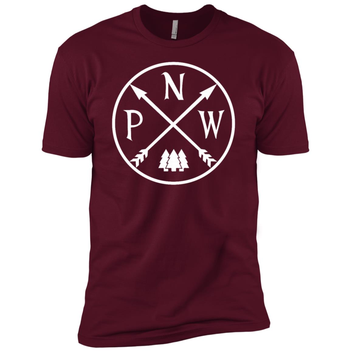 Distressed Pacific North West Mountain Camper Camping Men Short Sleeve T-Shirt