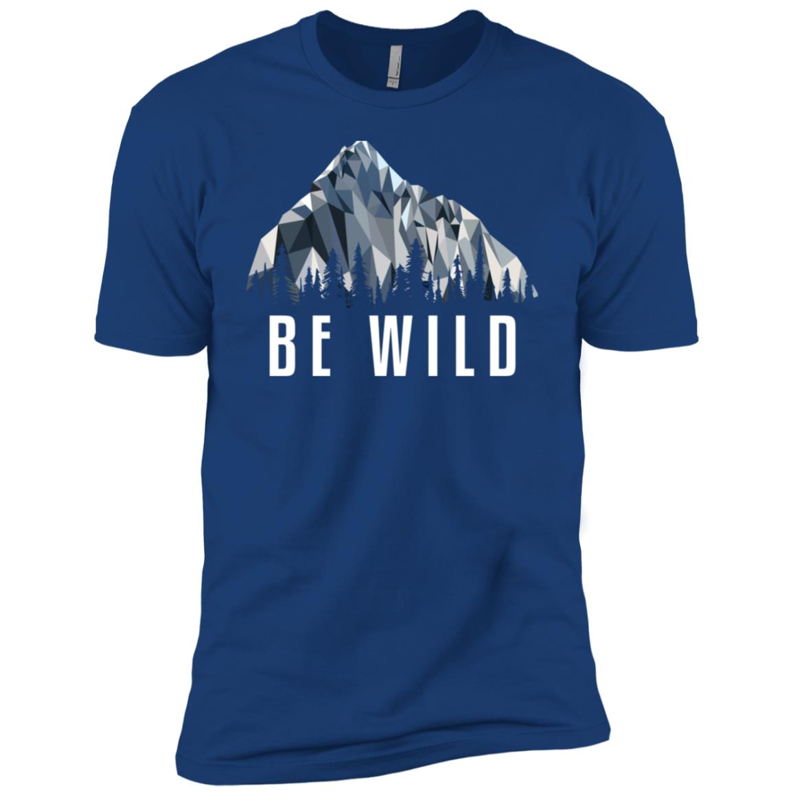 Funny Hiking Be Wild Low Poly Gift Men Short Sleeve T-Shirt