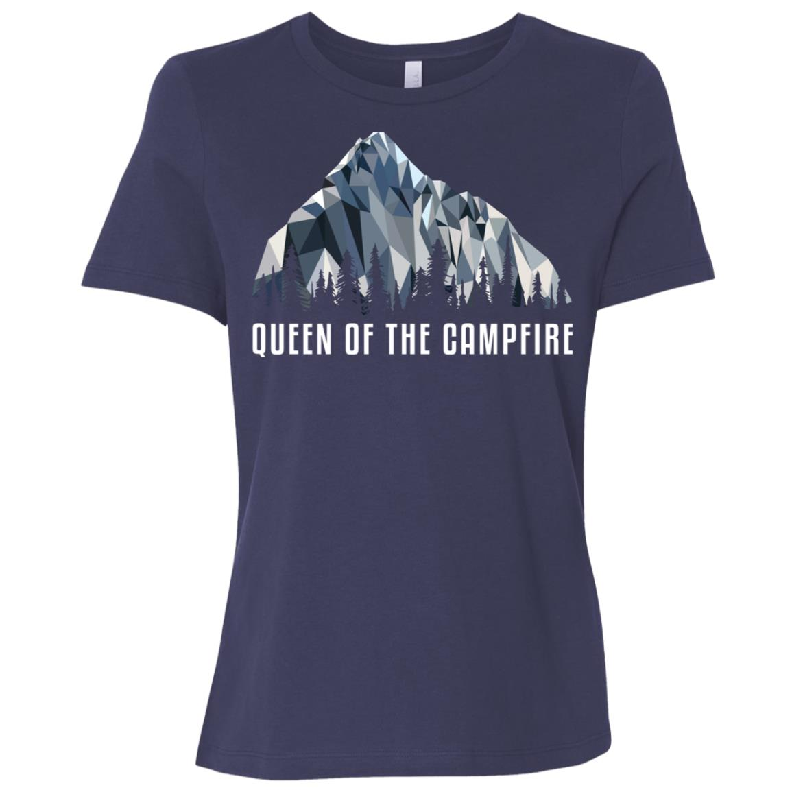 Funny Hiking Queen Of The Low Poly Gift Women Short Sleeve T-Shirt