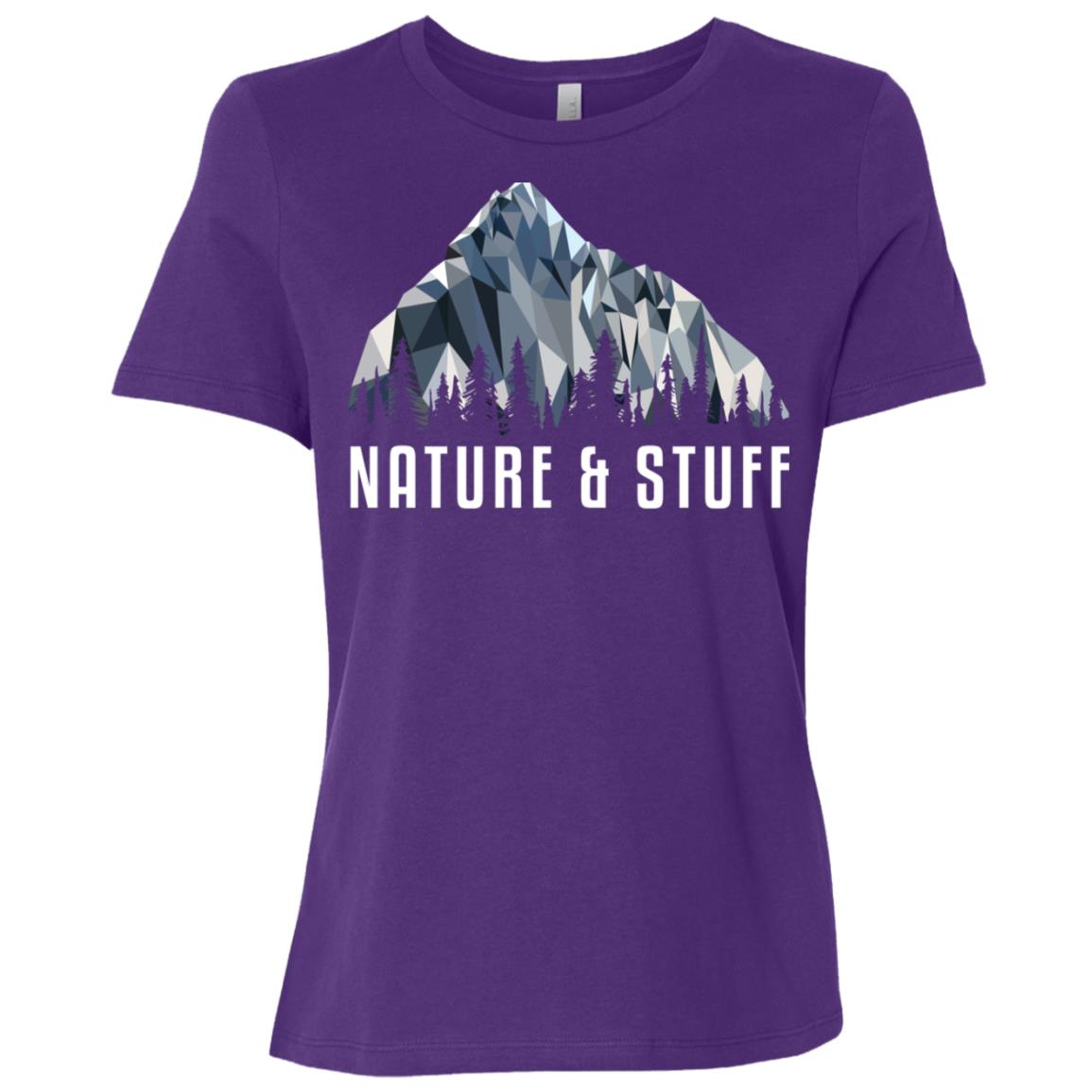 Funny Hiking Nature _ Stuff Low Poly Gift Women Short Sleeve T-Shirt