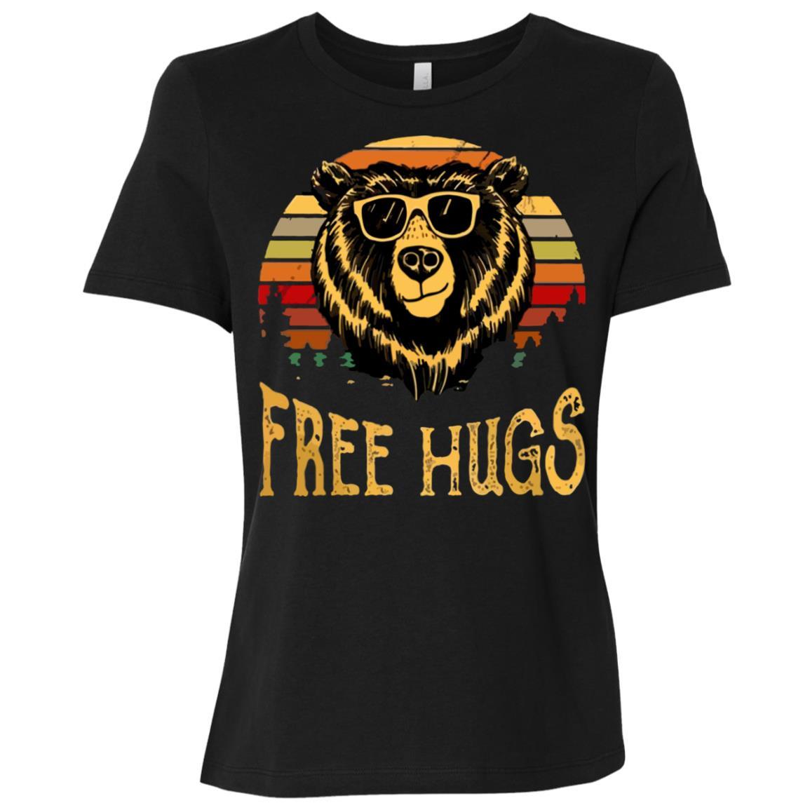 free hugs bear vintage go camping Women Short Sleeve T-Shirt