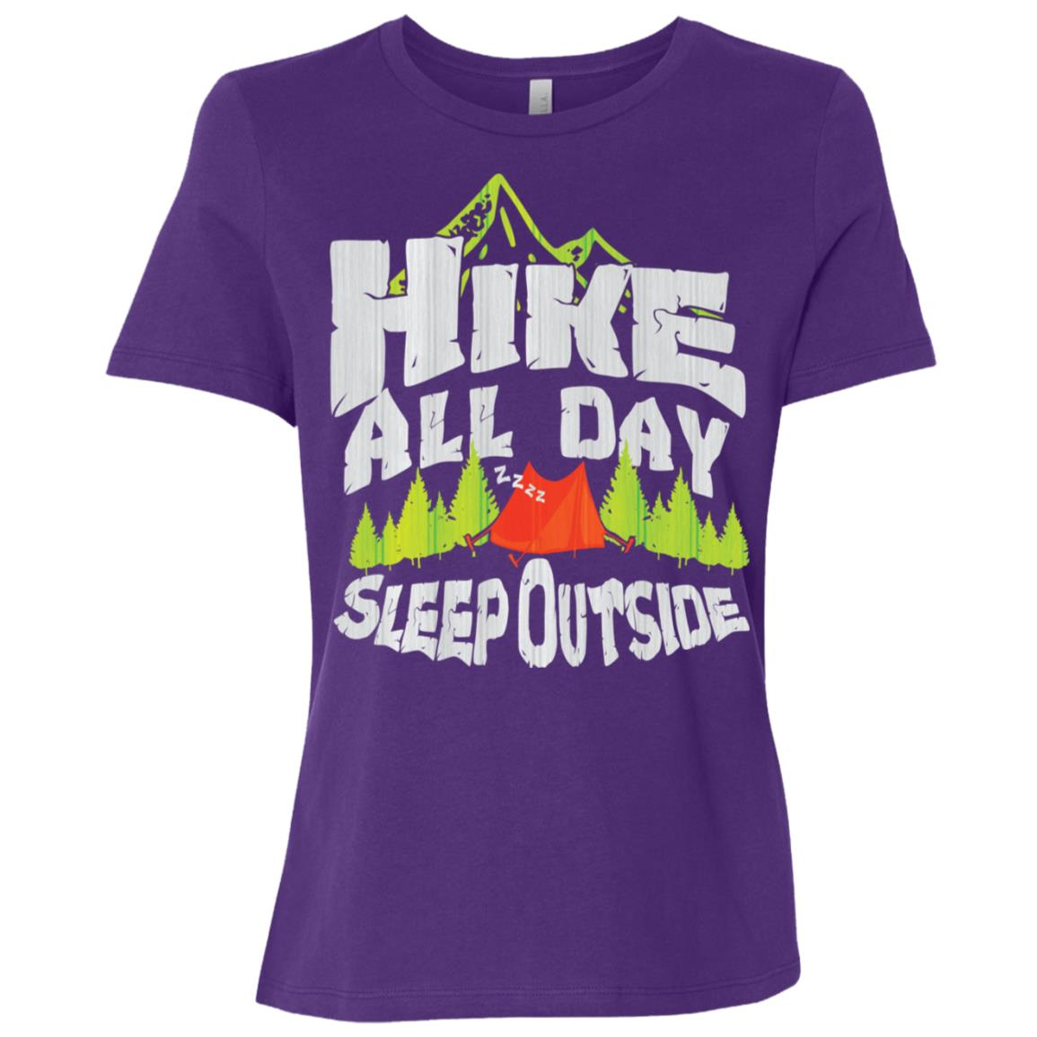 Forrest Hiker Camping Outdoor Nature Lover Gift Women Short Sleeve T-Shirt
