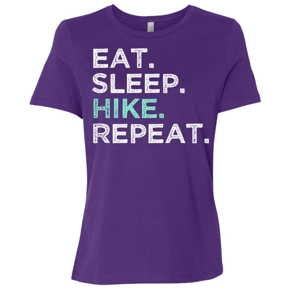 Eat Sleep Hike Repeat. Funny Hiking Women Short Sleeve T-Shirt