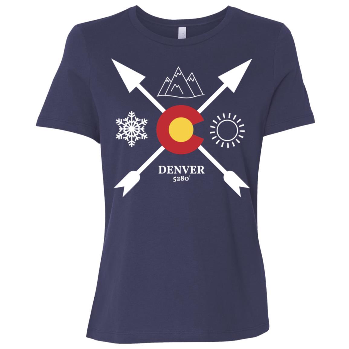 Denver, Colorado Directional Women Short Sleeve T-Shirt