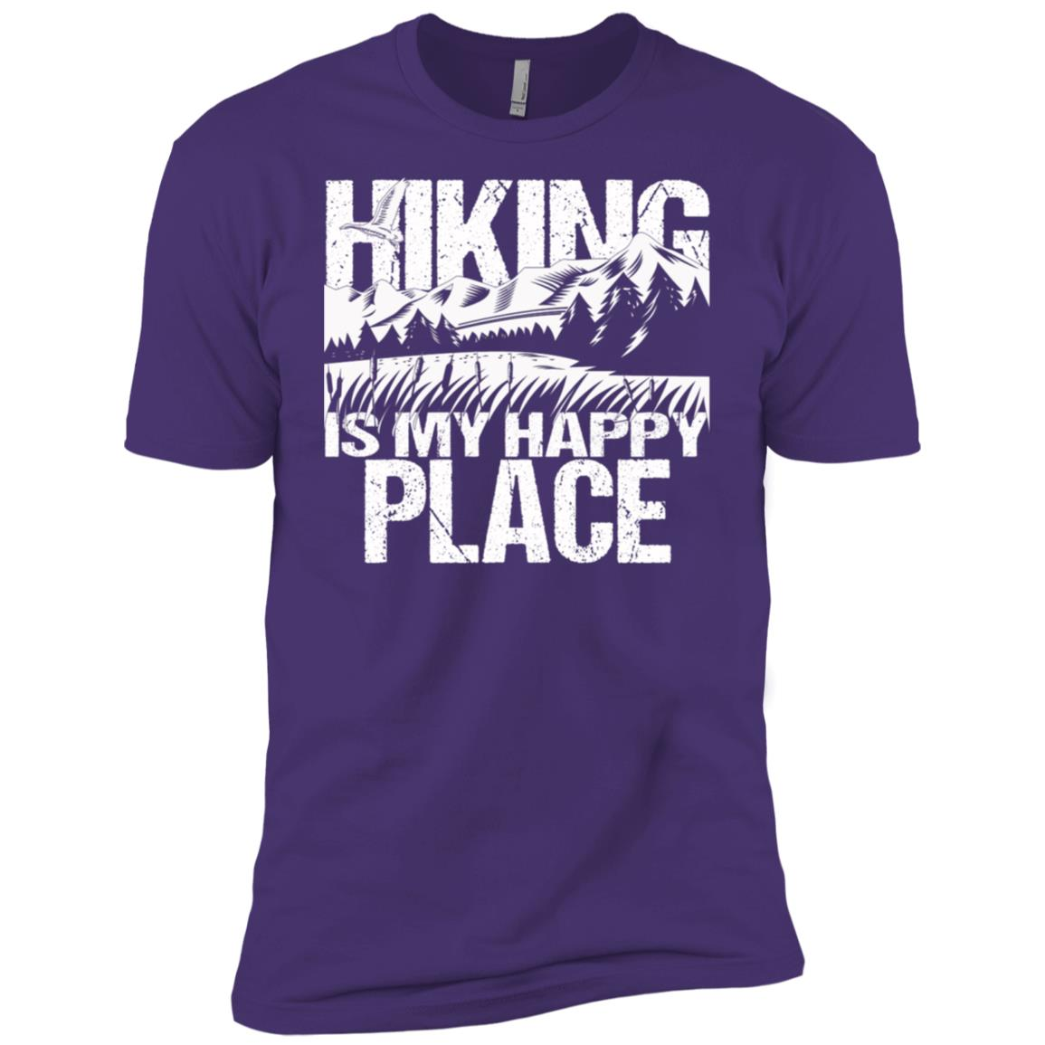 Hiking My Happy Place Love Camping Nature Tee Men Short Sleeve T-Shirt