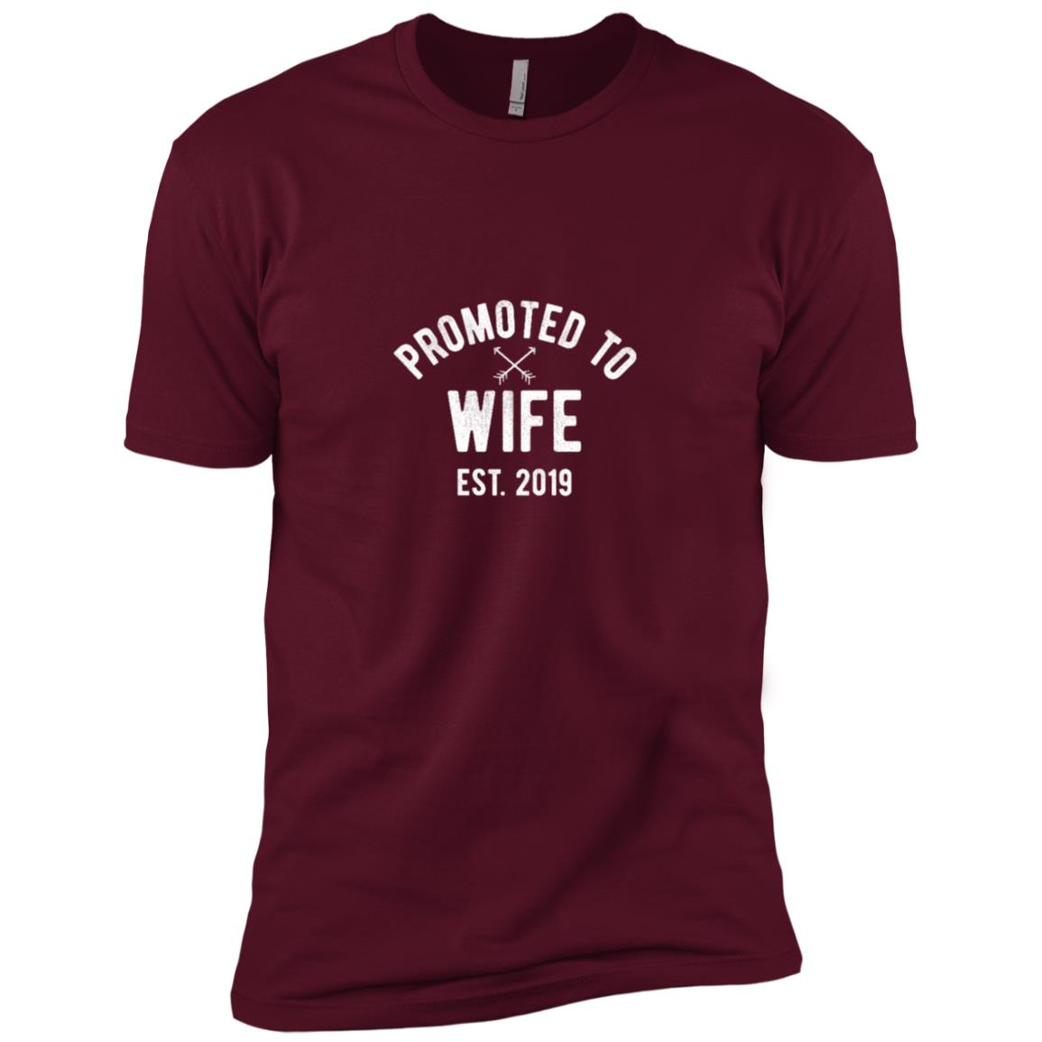 New Wife 2019 Just Married Bride Gift Tee Men Short Sleeve T-Shirt