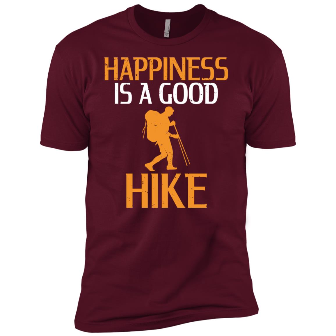 Happiness Is A Good Hike Men Short Sleeve T-Shirt