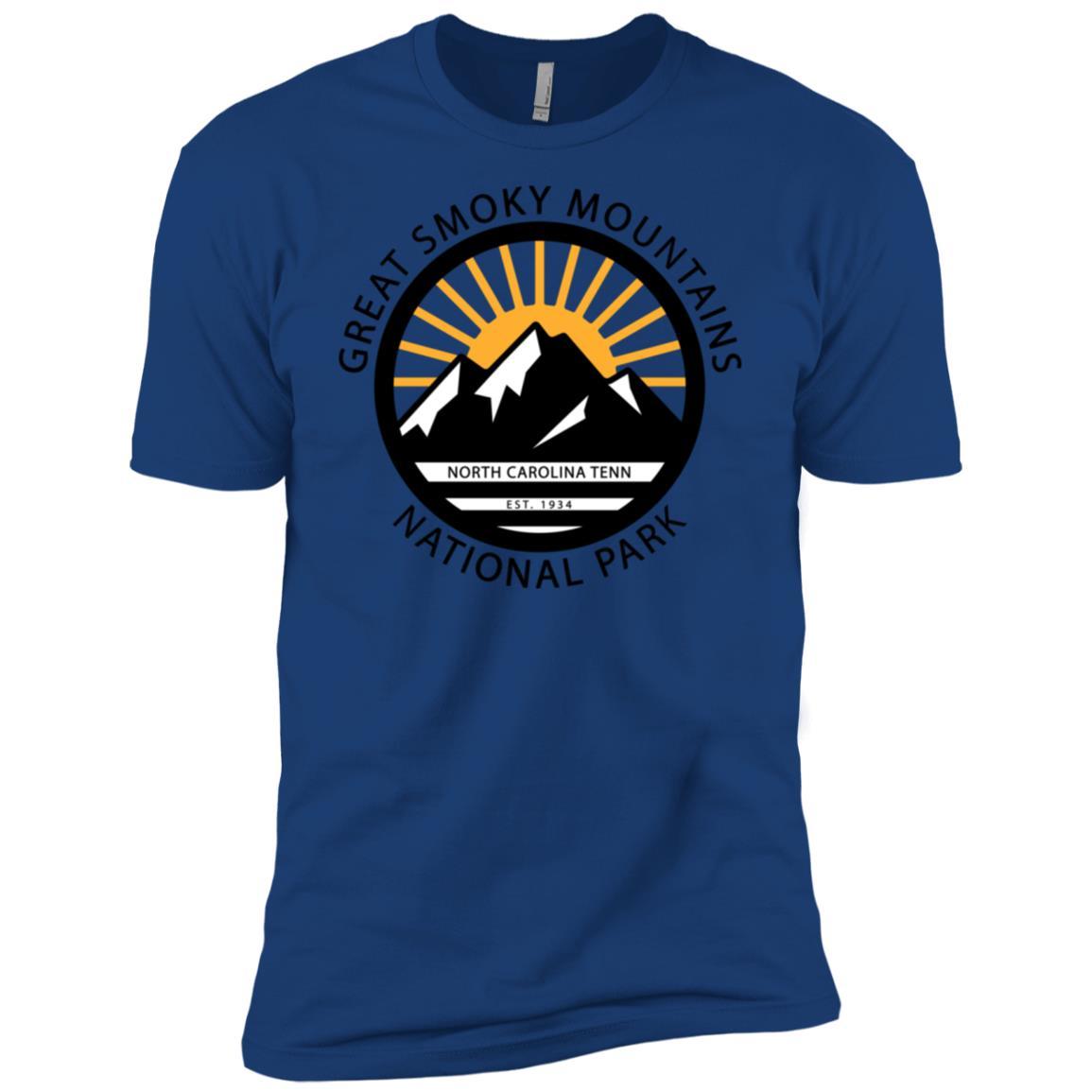 Great Smoky Mountains North Carolina Tennessee Men Short Sleeve T-Shirt