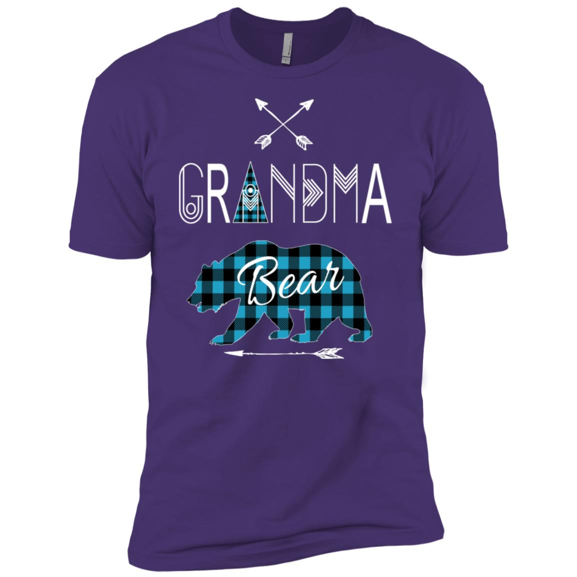 Grandma Bear Buffalo Plaid X-mas Camping Men Short Sleeve T-Shirt