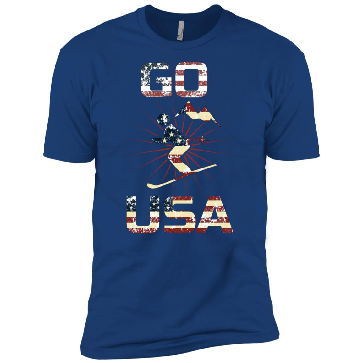 Go Usa Winter Sports Hiking New Christmas Gift Men Short Sleeve T-Shirt