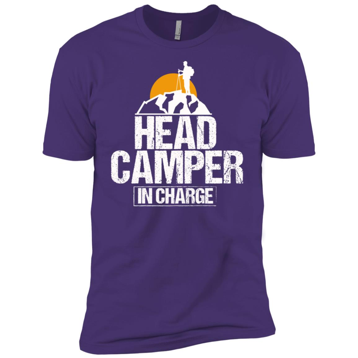 Funny Outdoor Camper in Charge Camping Tee Men Short Sleeve T-Shirt