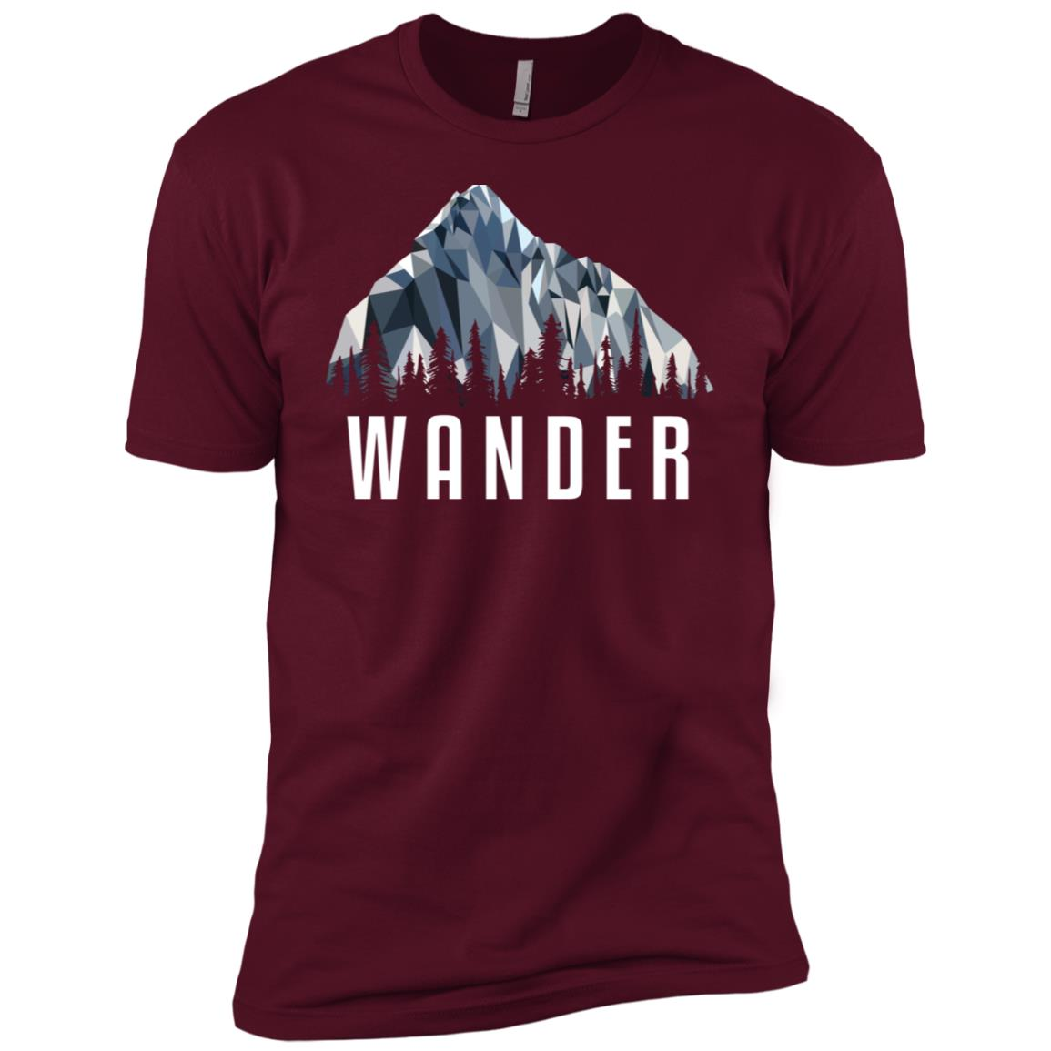 Funny Hiking Wander Low Poly Gift Men Short Sleeve T-Shirt