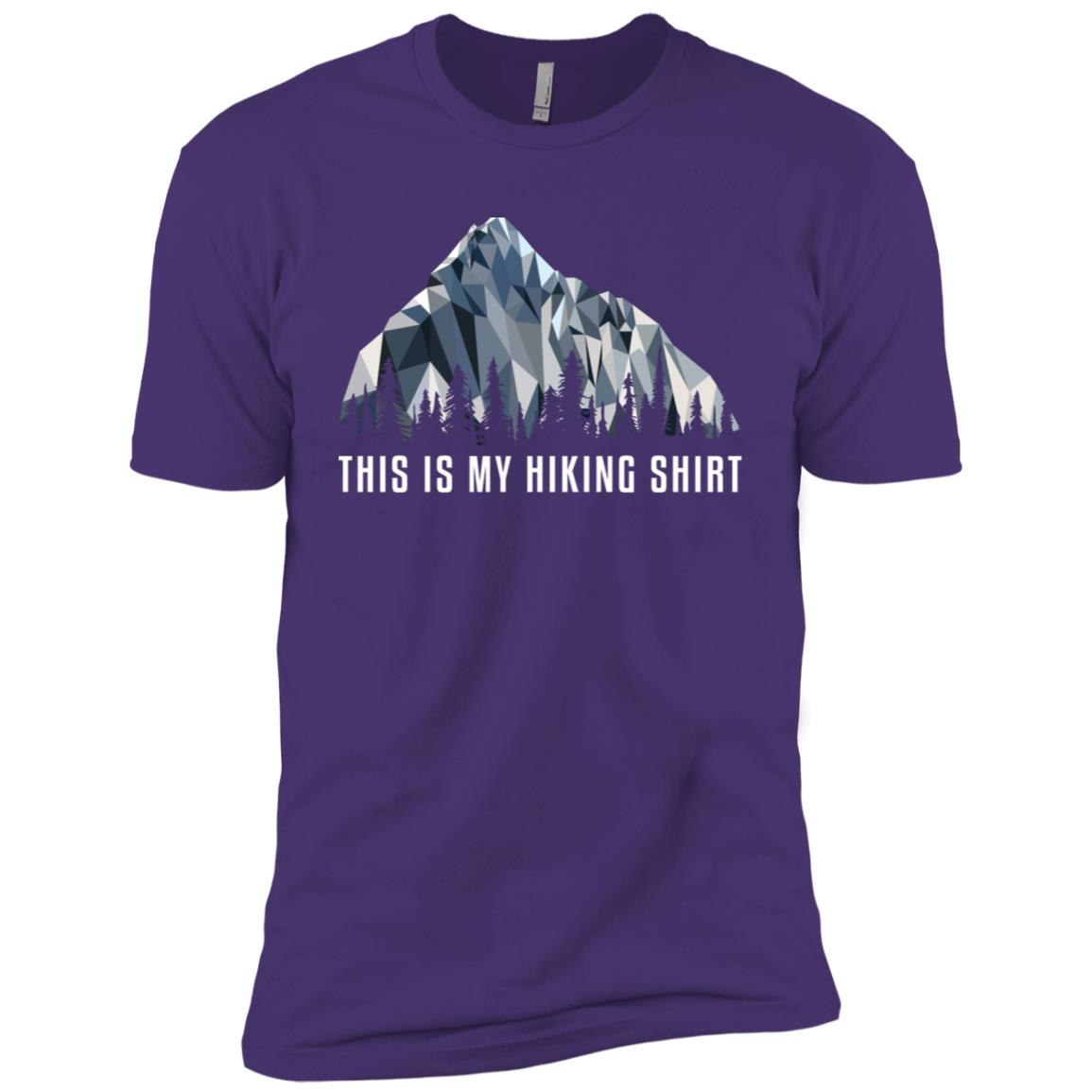 Funny Hiking This Is My Low Poly Gift Men Short Sleeve T-Shirt