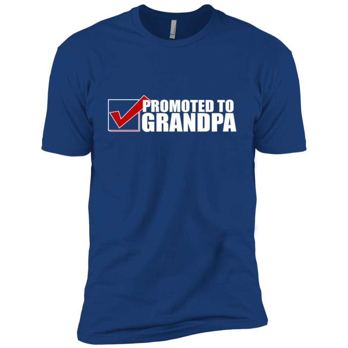 New Grandpa Promoted To Grandpa Announcement Tee Men Short Sleeve T-Shirt