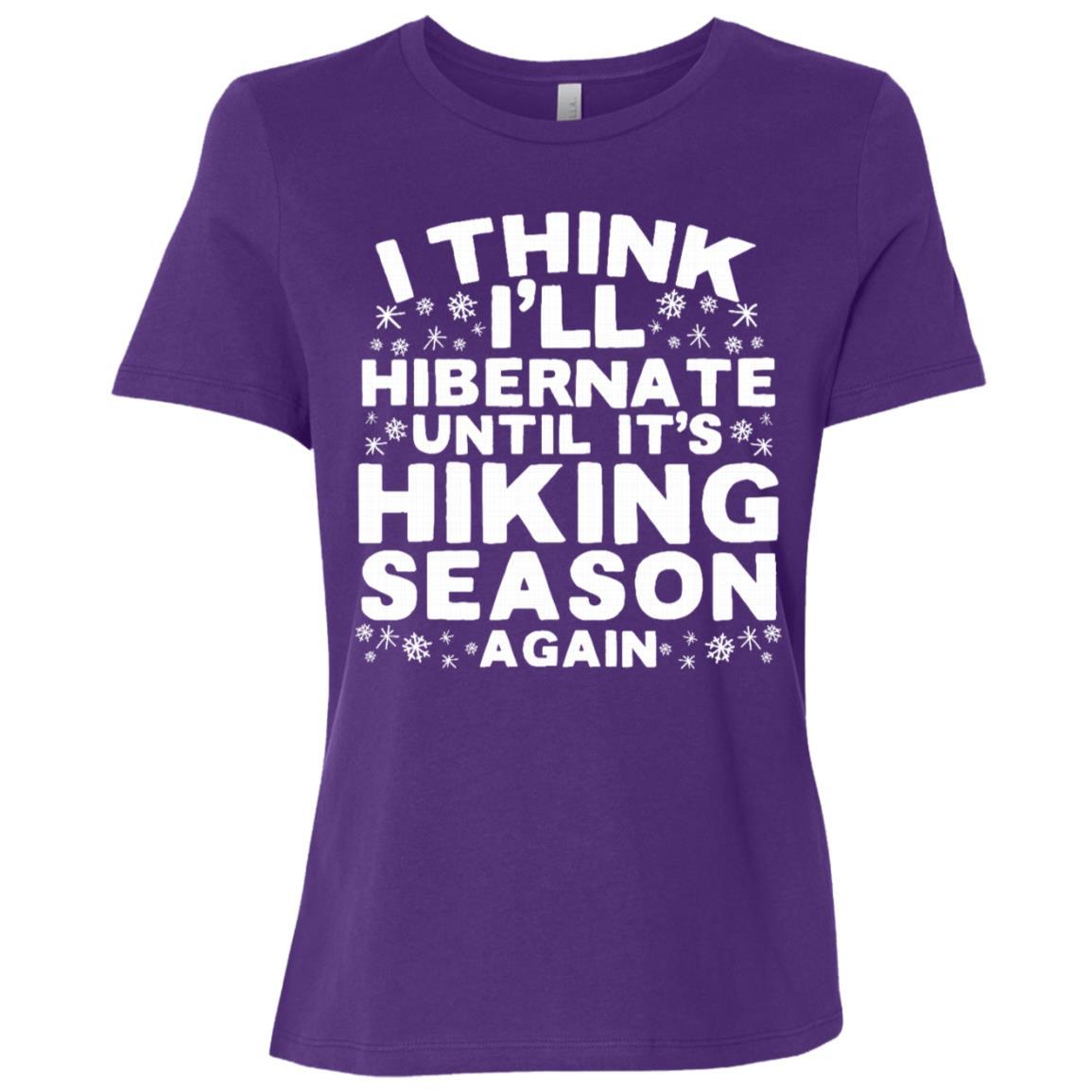Hibernate Until It's Hiking Season Again Women Short Sleeve T-Shirt