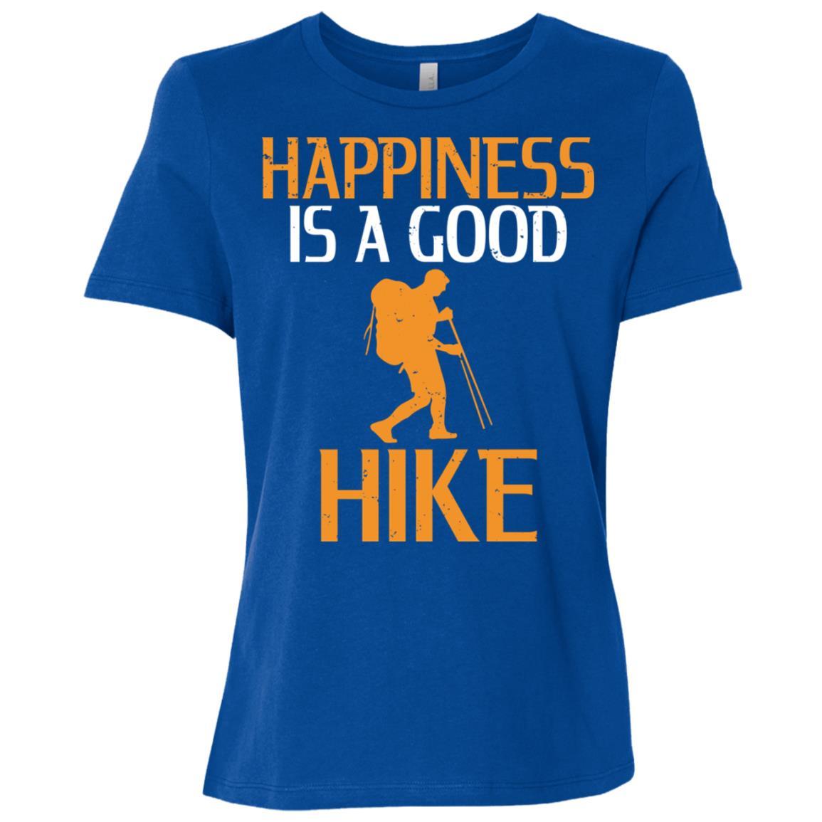 Happiness Is A Good Hike Women Short Sleeve T-Shirt