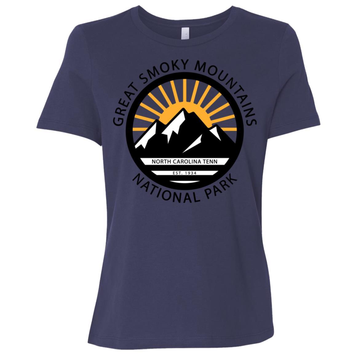 Great Smoky Mountains North Carolina Tennessee Women Short Sleeve T-Shirt