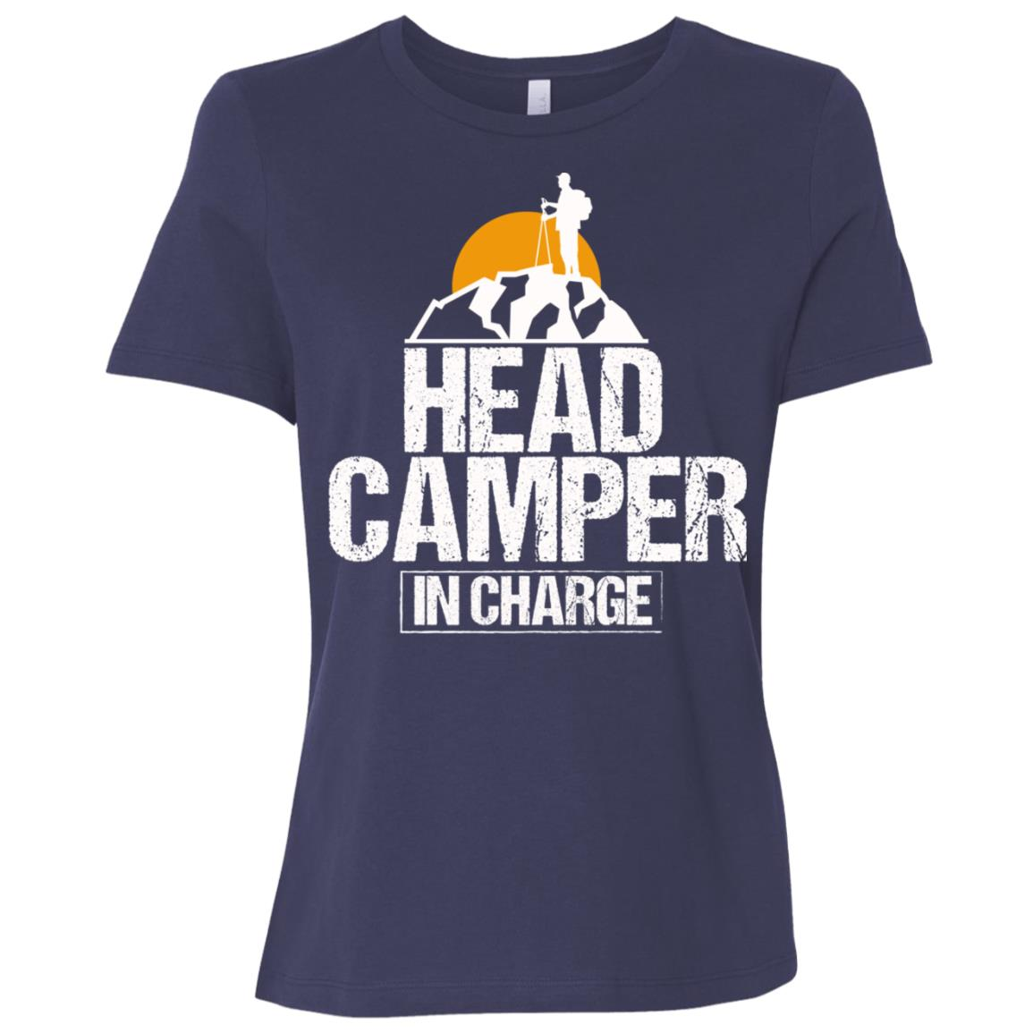 Funny Outdoor Camper in Charge Camping Tee Women Short Sleeve T-Shirt