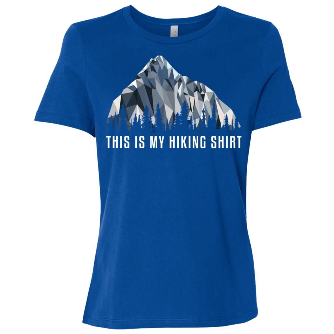 Funny Hiking This Is My Low Poly Gift Women Short Sleeve T-Shirt
