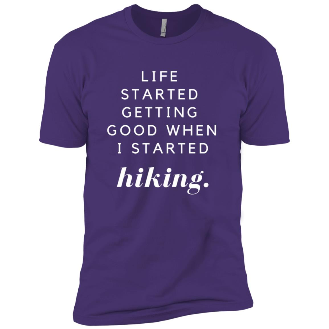 Life Started Getting Good When Hiking Tee Men Short Sleeve T-Shirt