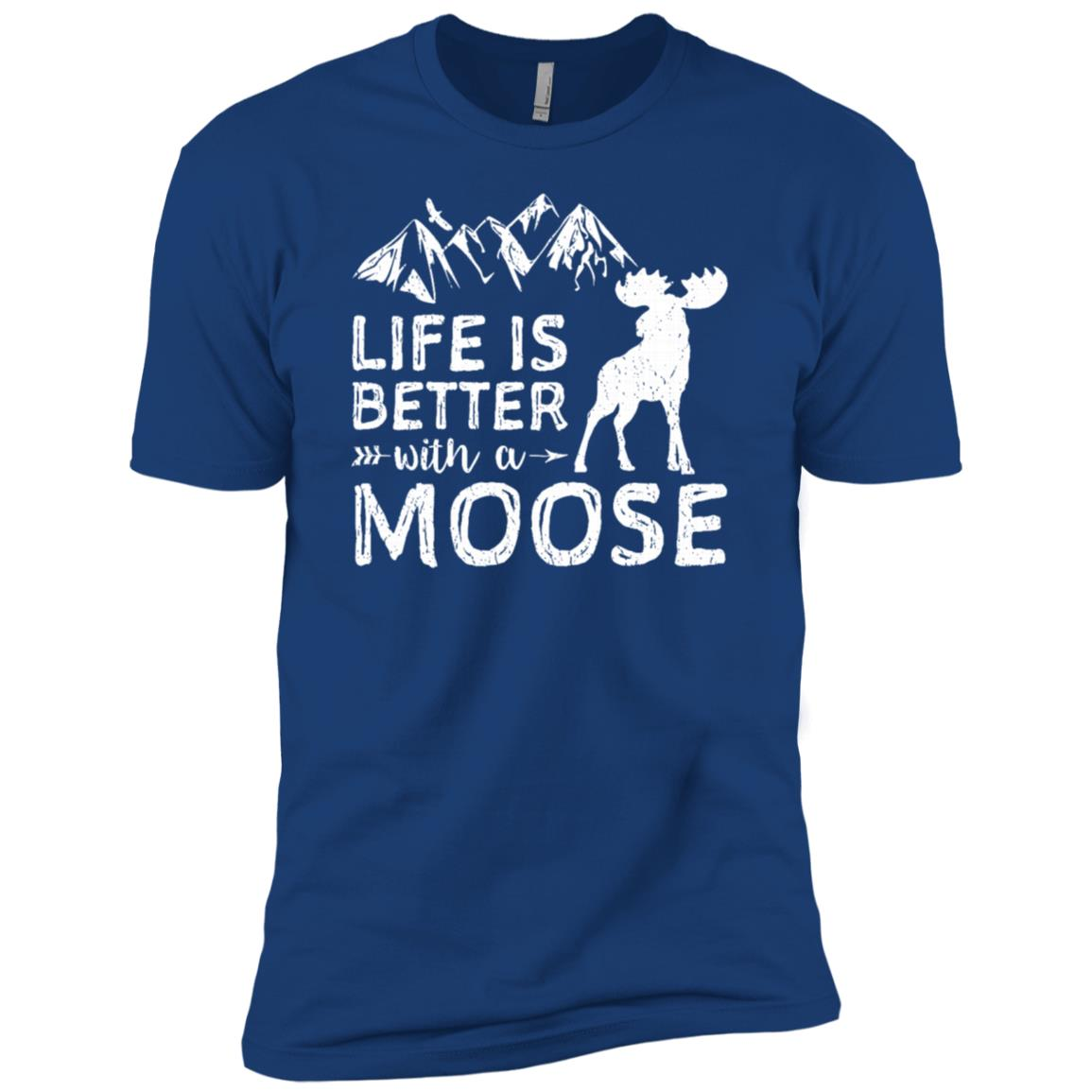 Life Is Better With A Moose Hiking Men Short Sleeve T-Shirt