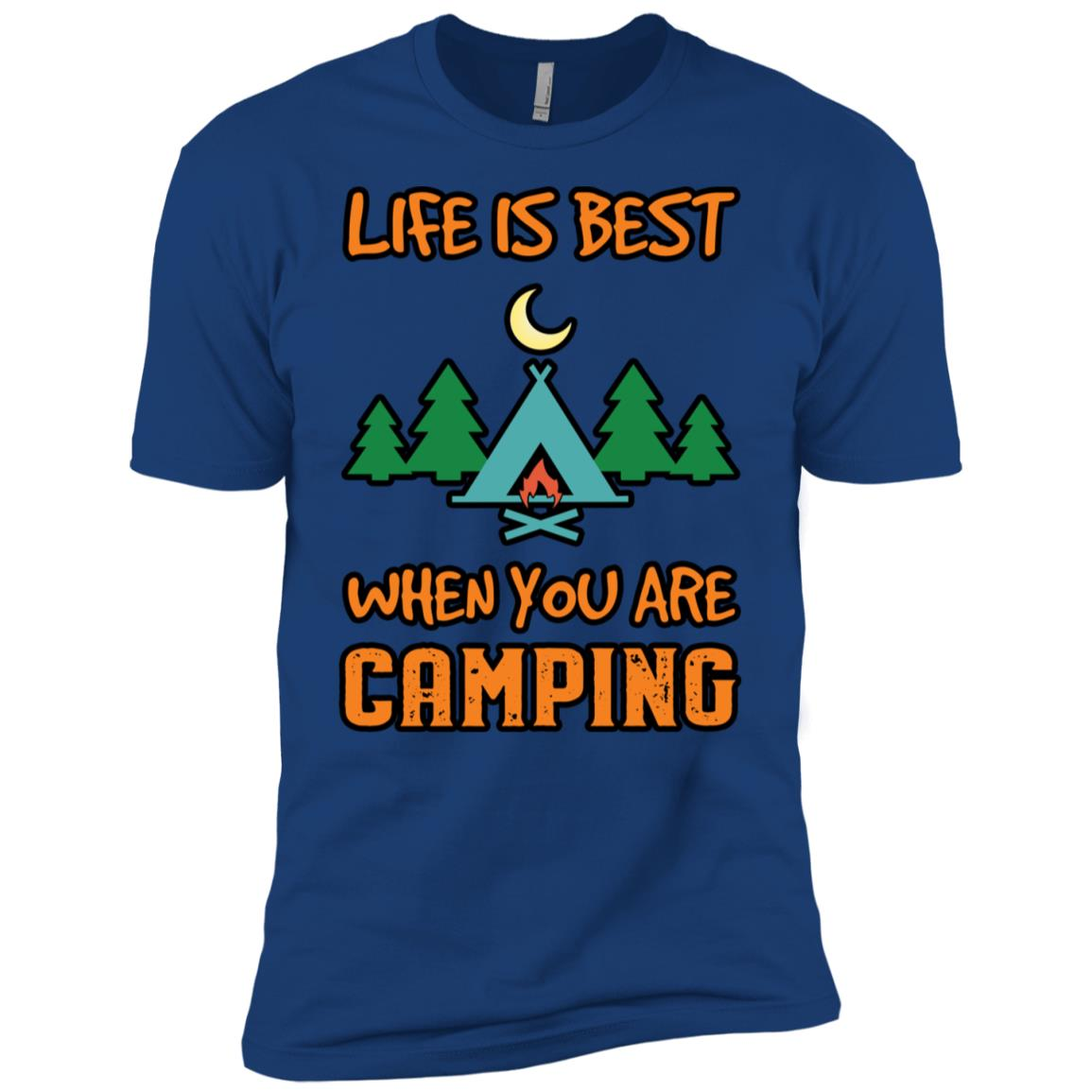 Life Is Best When You Are Camping Men Short Sleeve T-Shirt