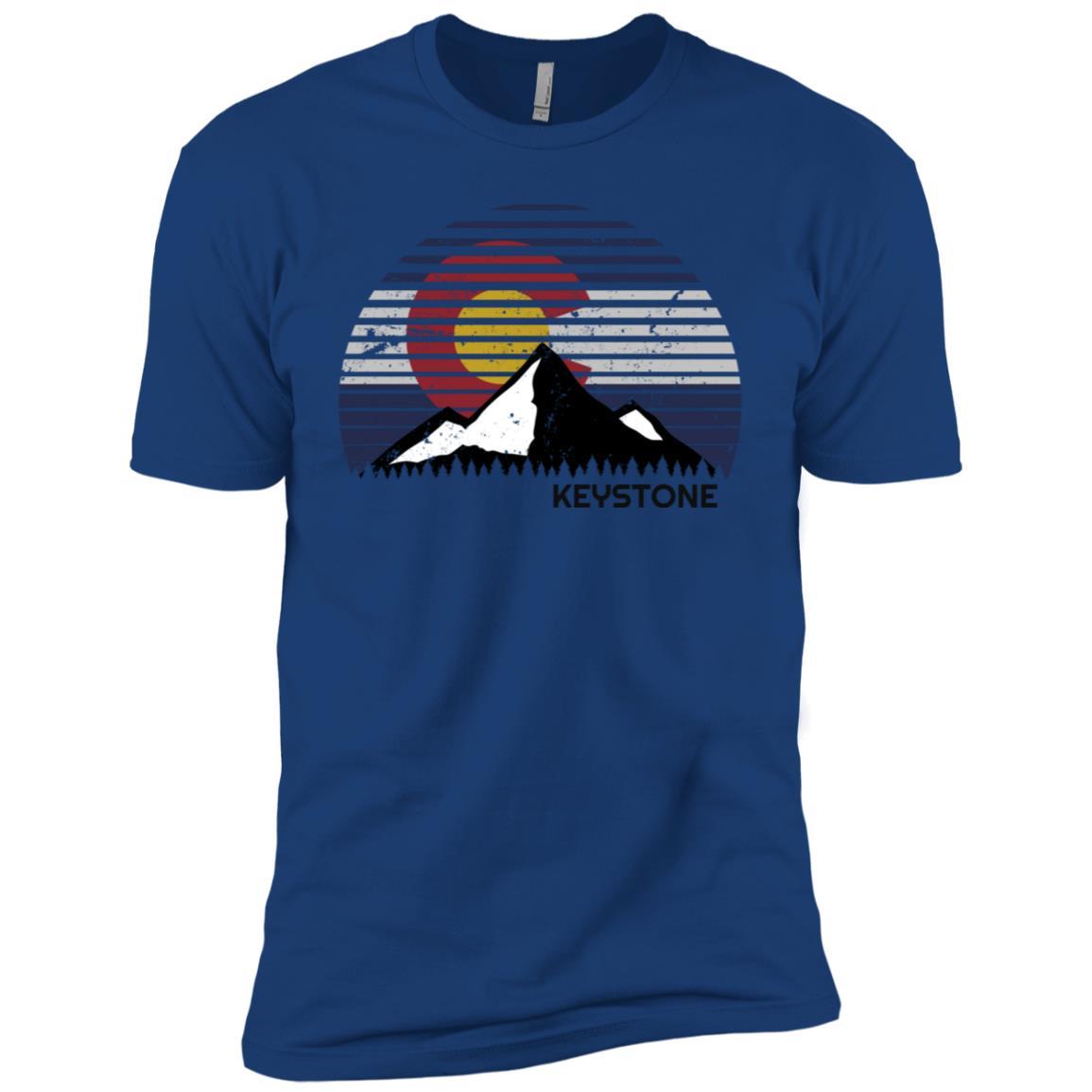 Keystone, Colorado x Co Flag Mtn Top Men Short Sleeve T-Shirt