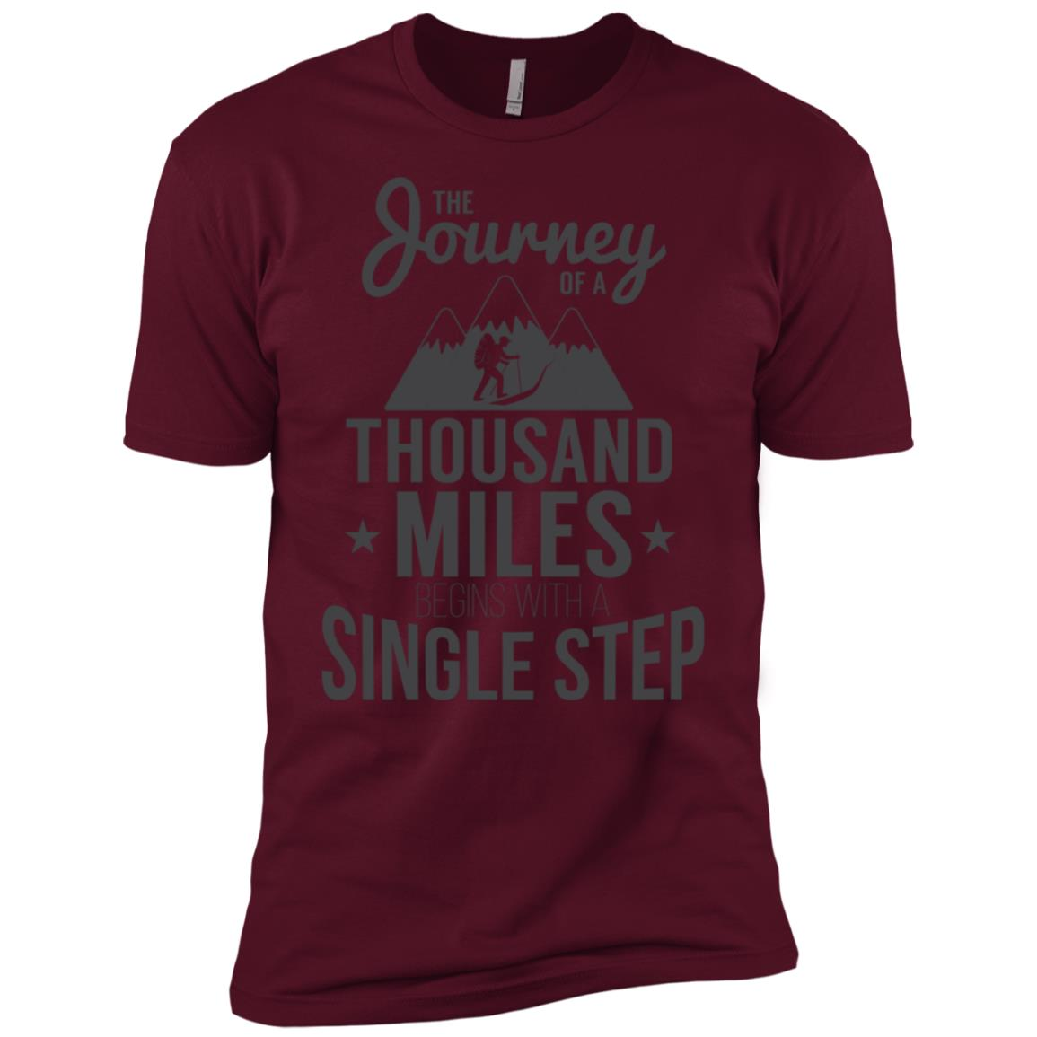 Journey Of A Thous& Miles Begins With A Step Men Short Sleeve T-Shirt