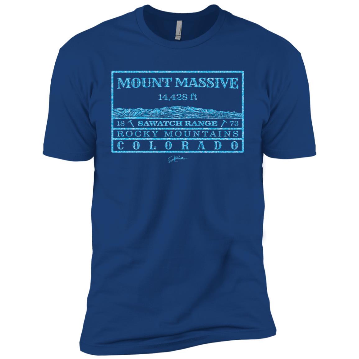 JCombs Mount Massive, Sawatch Range, Co Men Short Sleeve T-Shirt