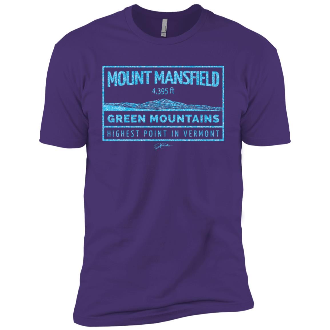 JCombs Mount Mansfield, Green Mountains, Vt Men Short Sleeve T-Shirt