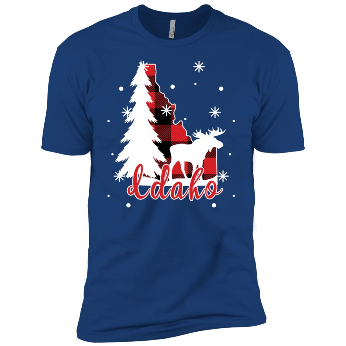 Idaho Bufflo Plaid Winter Moose Forest Men Short Sleeve T-Shirt