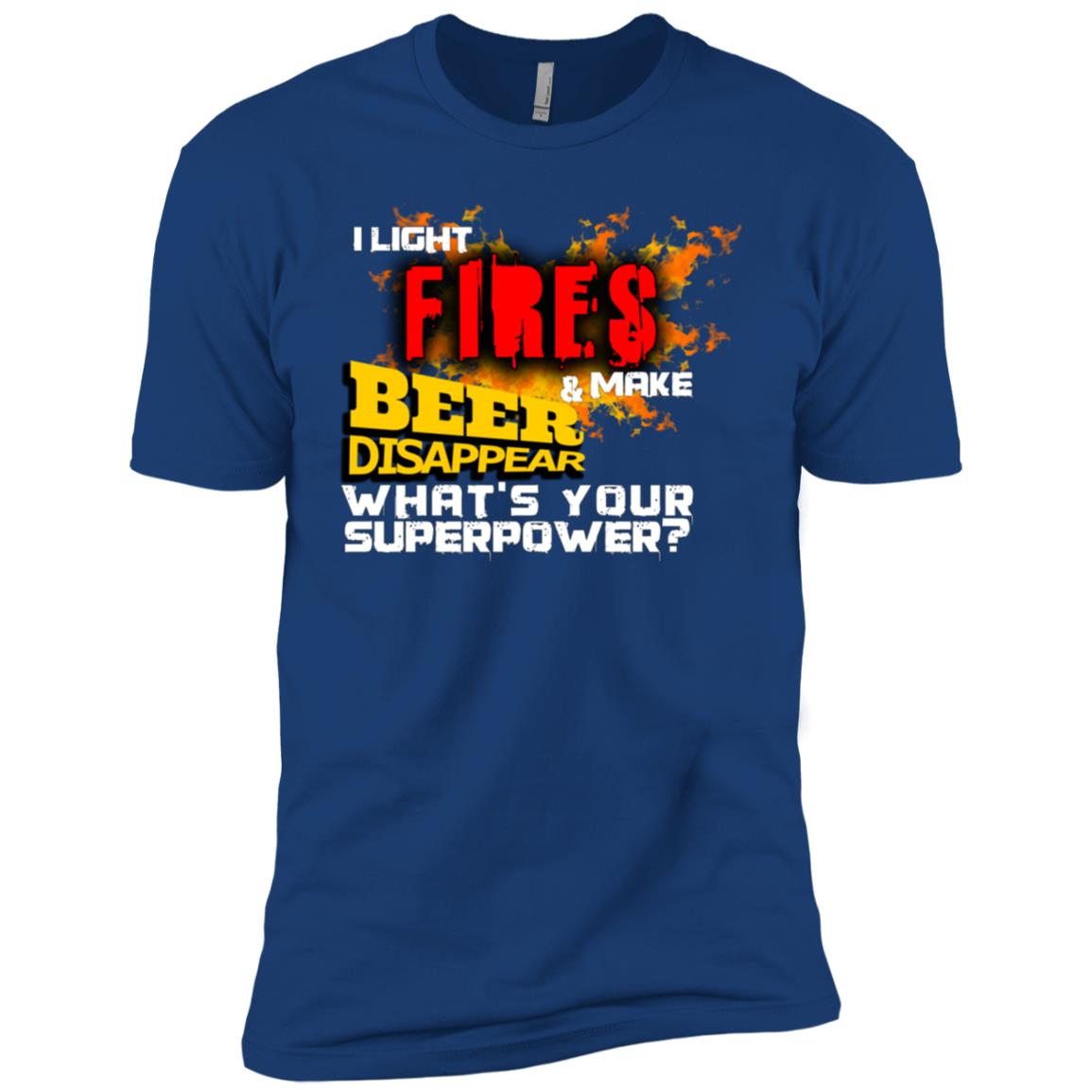 I Light Fires And Make Beer Disappear Camping-1 Men Short Sleeve T-Shirt