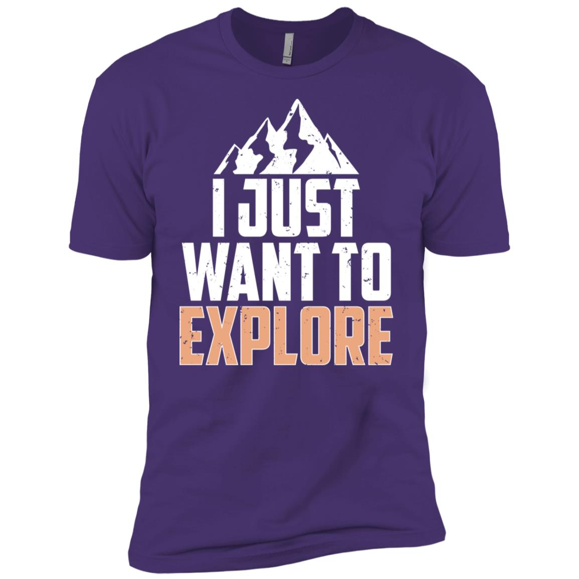 I Just Want To Explore Hiking Mountains Men Short Sleeve T-Shirt