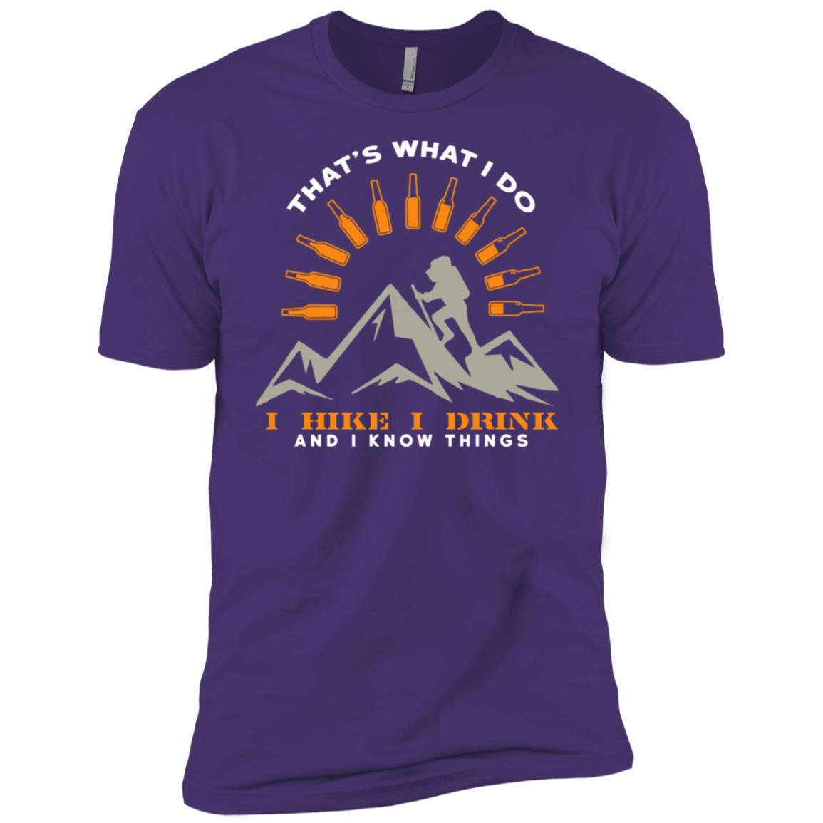 I Hike I Drink And I Know Things Funny Hiking Men Short Sleeve T-Shirt