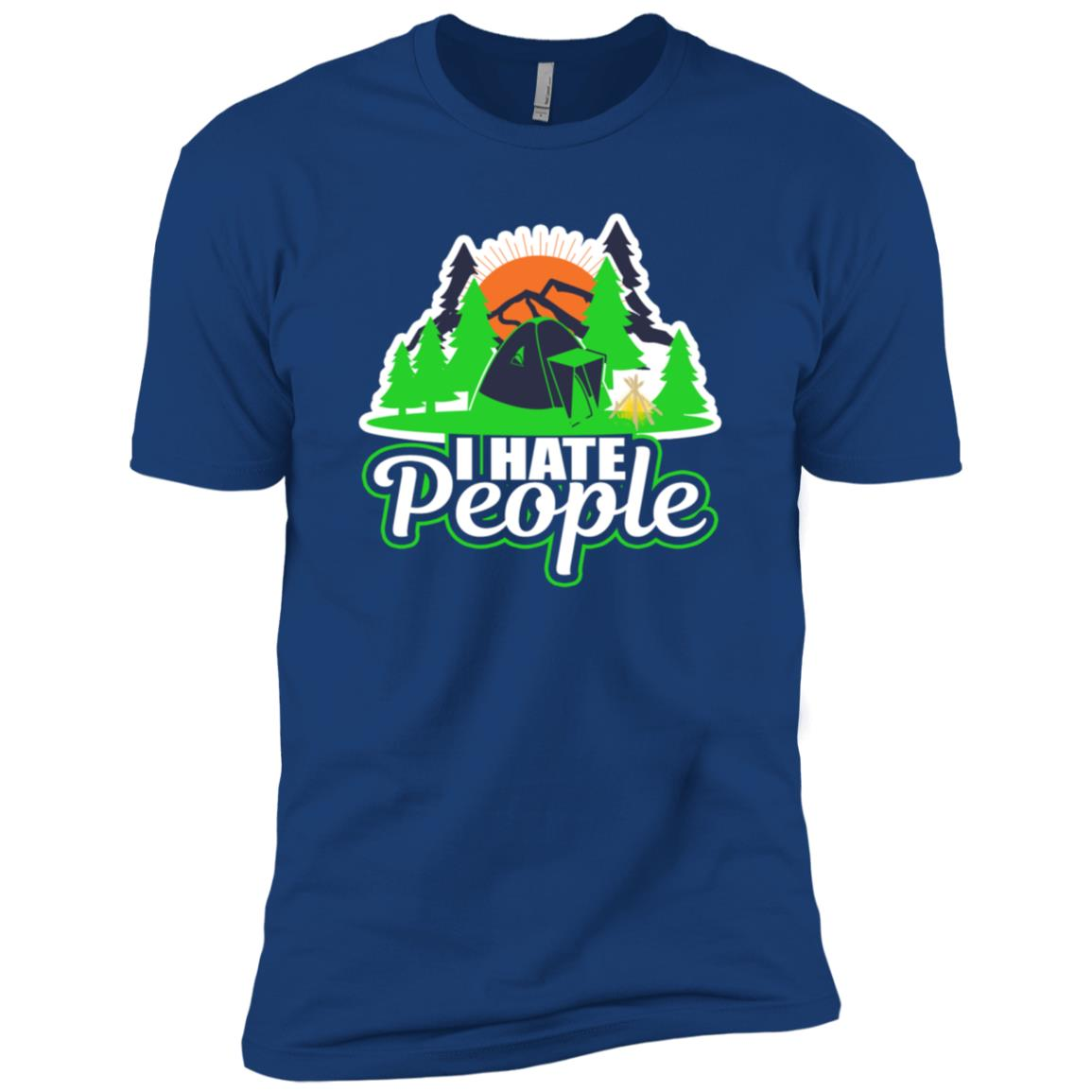I Hate People Camping Hiking Outdoors Camper Nature Men Short Sleeve T-Shirt