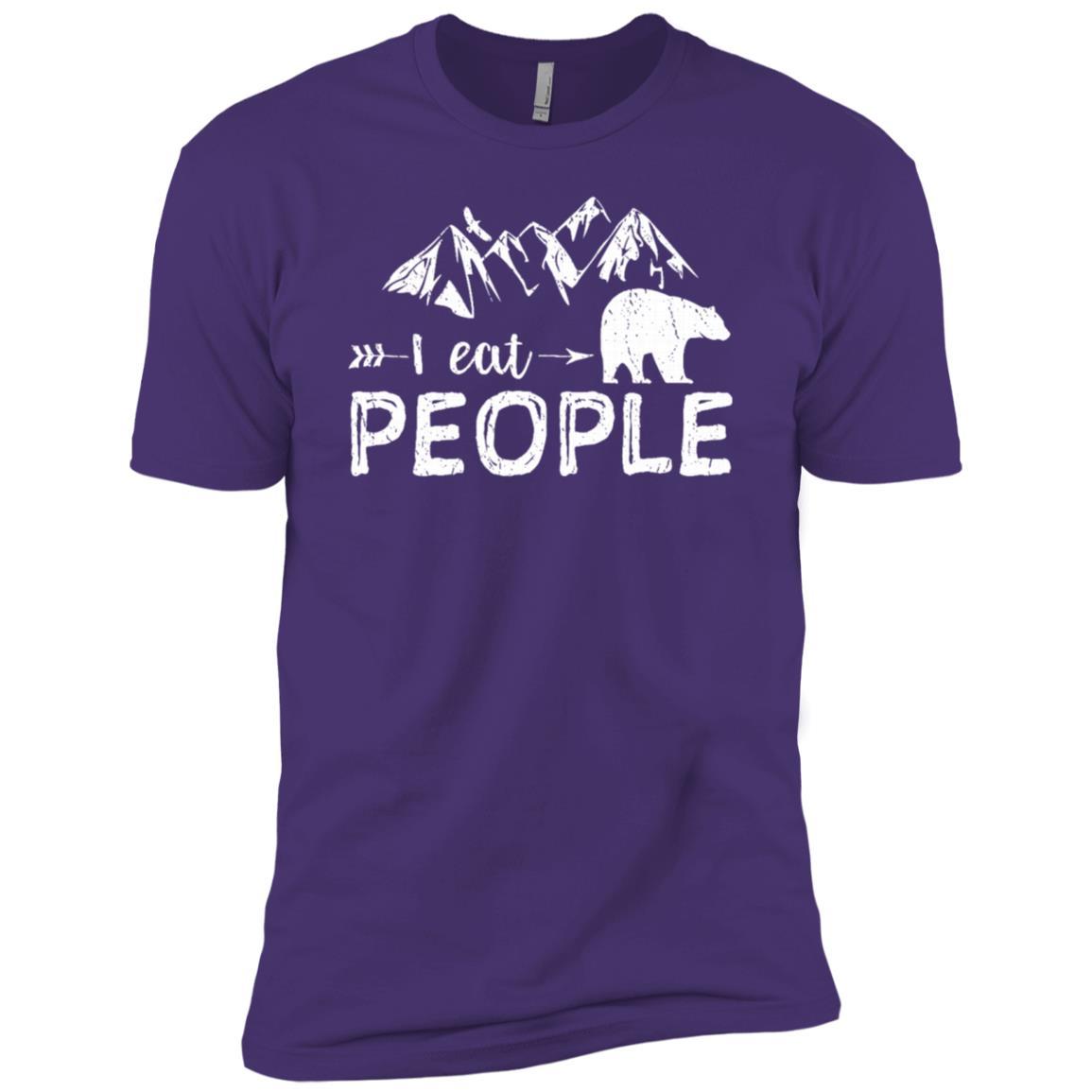 I Eat People Bear Hiking Camping Lover Men Short Sleeve T-Shirt