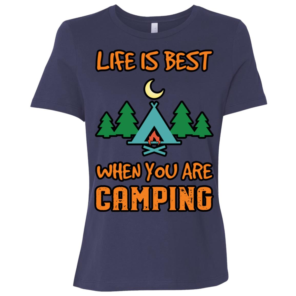 Life Is Best When You Are Camping Women Short Sleeve T-Shirt