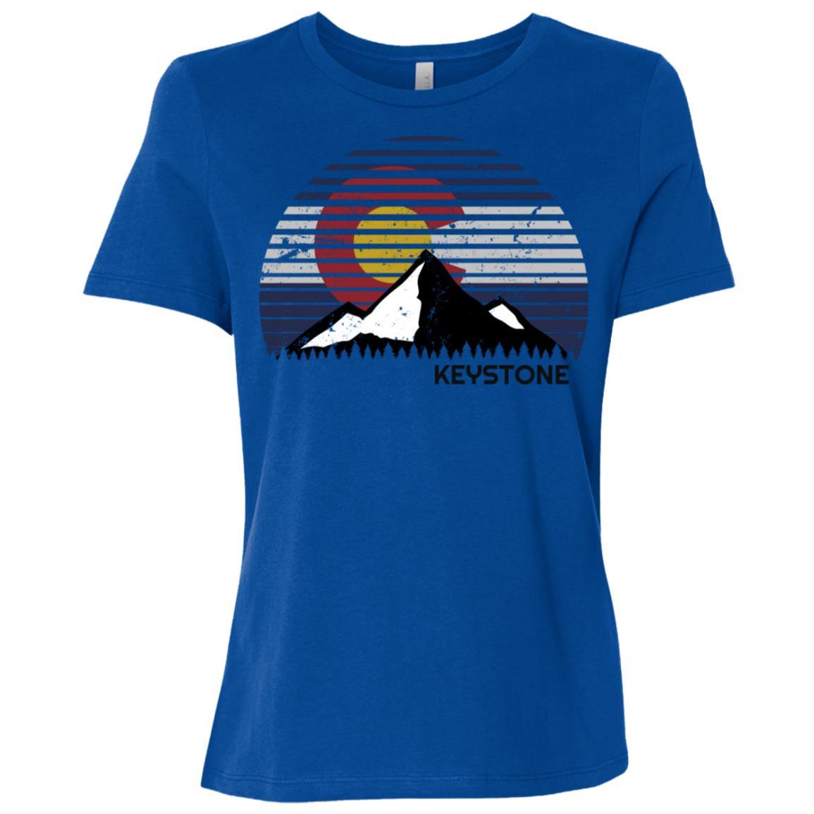 Keystone, Colorado x Co Flag Mtn Top Women Short Sleeve T-Shirt