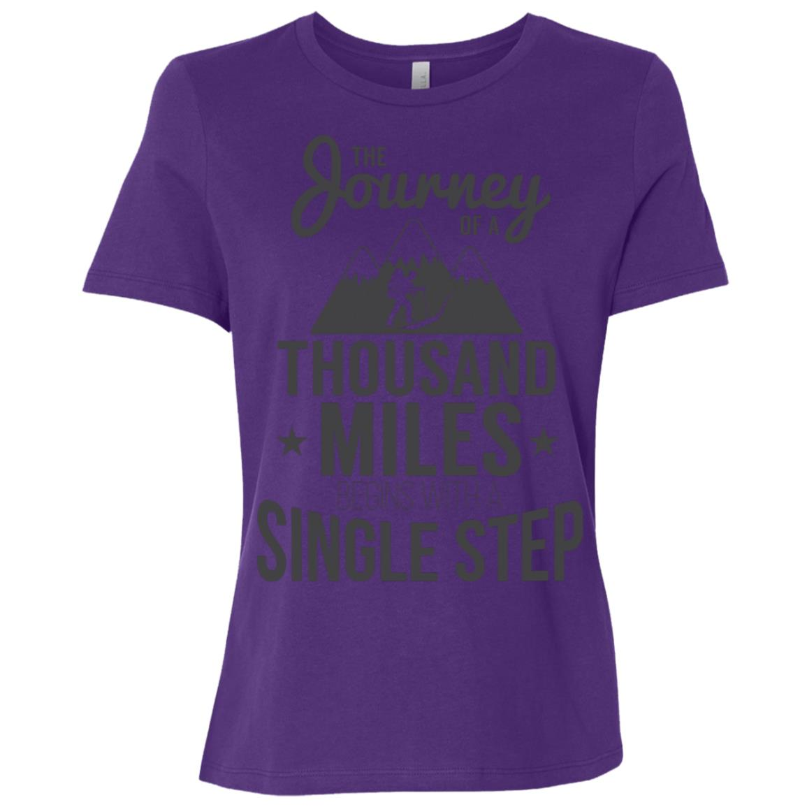Journey Of A Thous& Miles Begins With A Step Women Short Sleeve T-Shirt