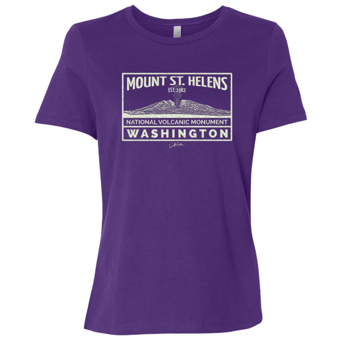JCombs Mount St. Helens Nat'l Volcanic Monument Women Short Sleeve T-Shirt