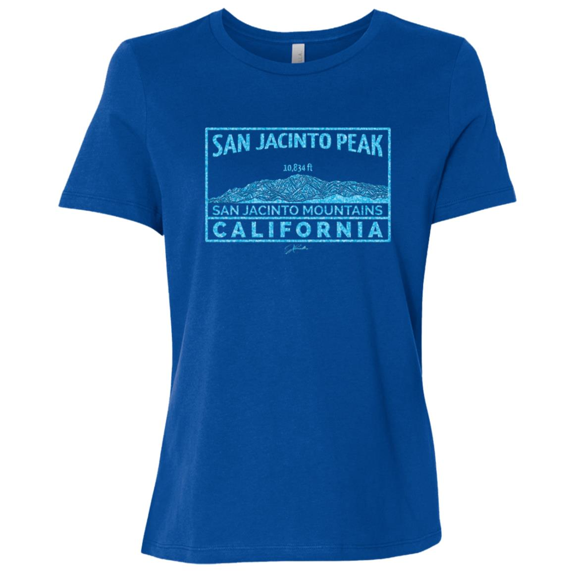 JCombs San Jacinto Peak, California Women Short Sleeve T-Shirt
