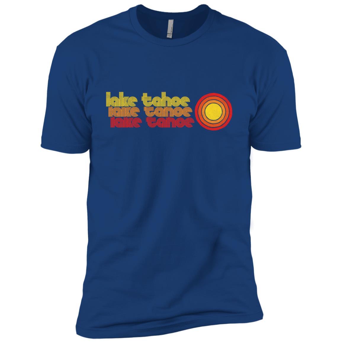 Retro Lake Tahoe 80's Style Sun Vintage Men Short Sleeve T-Shirt