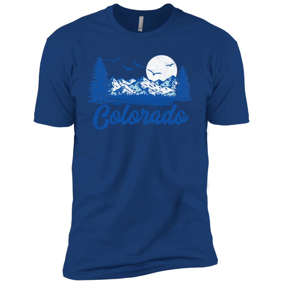 Retro Colorado Eighties Mountains Graphic Tee Men Short Sleeve T-Shirt