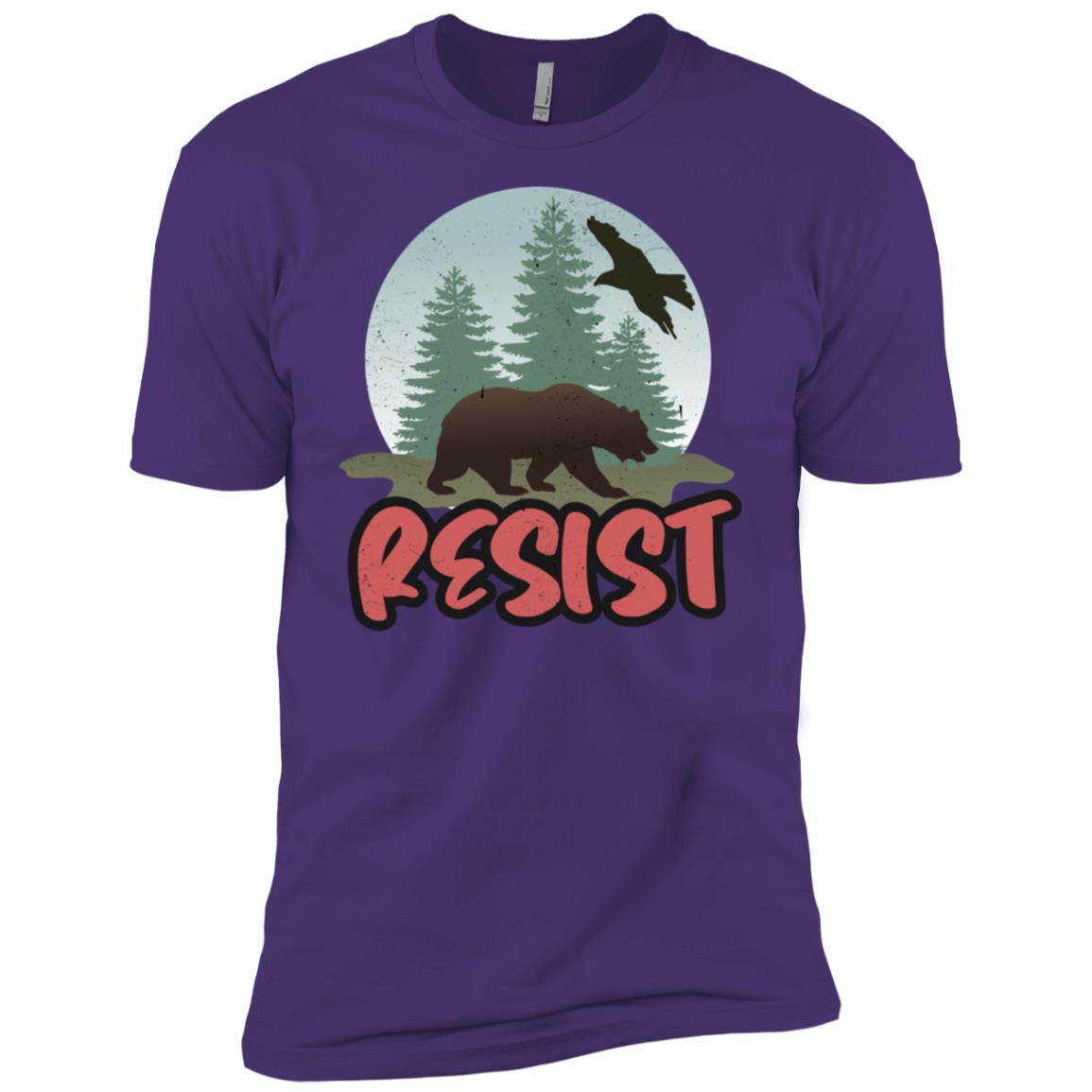 Resist Alt Us National Parks Resist Graphic Bear Tee Men Short Sleeve T-Shirt