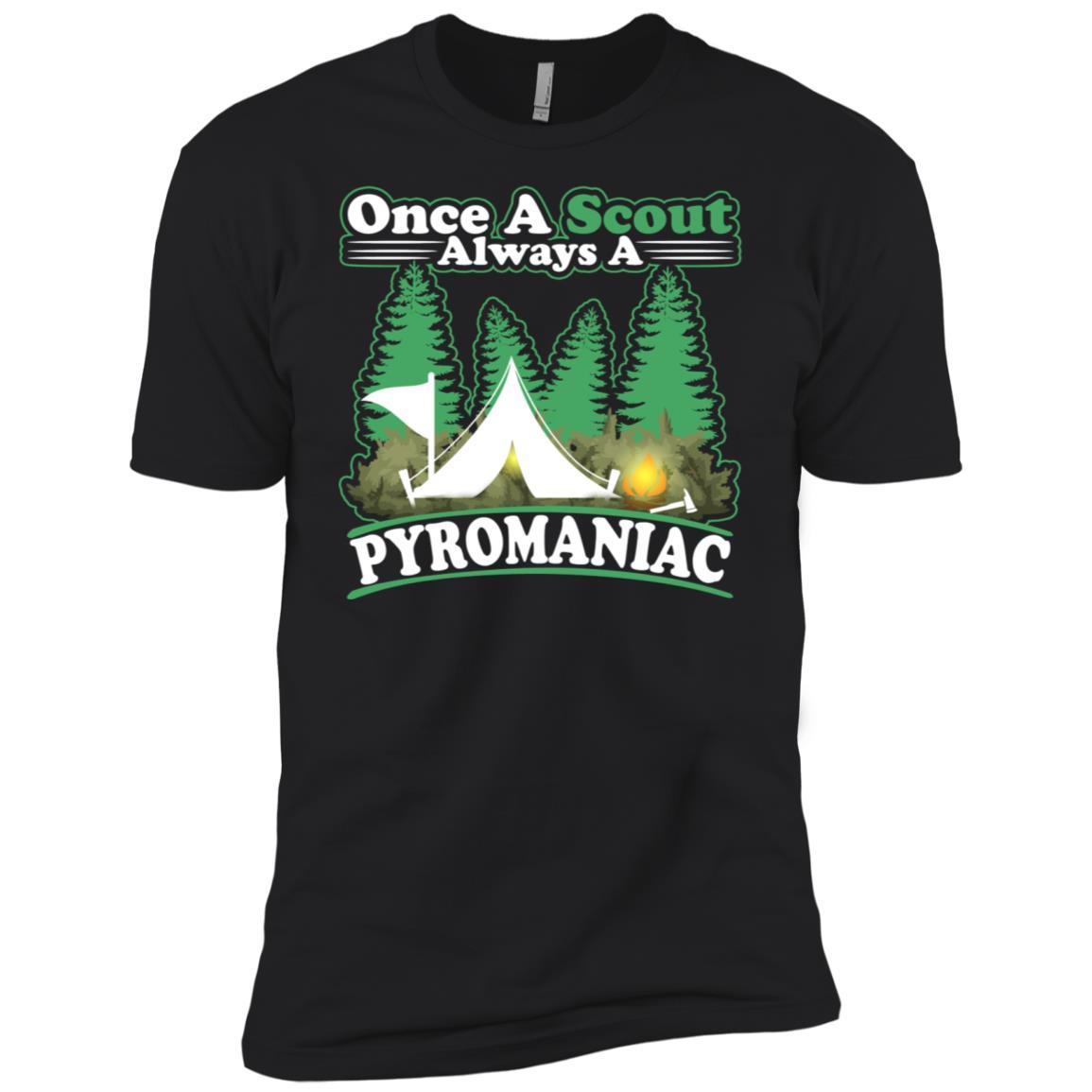 Once A Scout Always A Pyromaniac Boy Campfire Scouting Men Short Sleeve T-Shirt